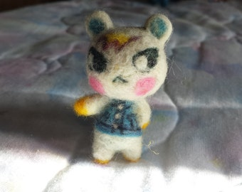 Needle-Felted Animal Crossing Villager Marshal