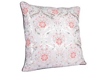 Terracotta Copper Grey Cushion x 2