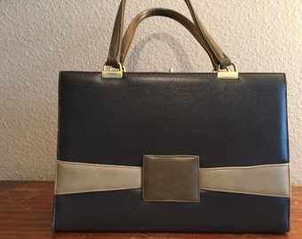 Multi color leather large handbag