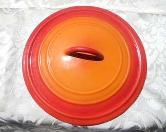 Vintage Le Crueset flame orange Dutch Oven lid