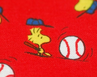 Peanuts Baseball Fabric - Play Ball - Charlie Brown Snoopy Woodstock Lucy - by Quilting Treasures - 100% Quality Cotton by the Yard