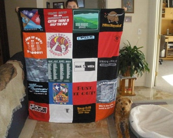 Custom T-Shirt Blanket