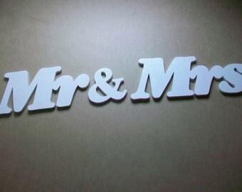 Wedding letters Wedding decoration MR Mrs Sign Wedding gift Wooden sign Mr&Mrs sign Table wedding sign Sign for wedding Wooden letters