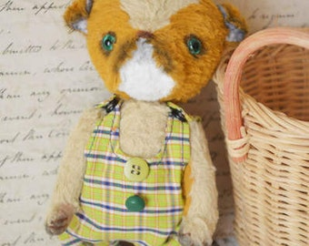 Teddy Stuffed animals Teddy bear Dog  Vintage toy Handmade dog Teddy dog Small teddy Pocket teddy Pocket dog Small dog