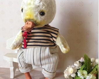 Teddy duckling Teddy bear Bird Teddy bird  Plushies teddy Stuffed toy Collectible toy Vintage toy Teddy Chicken