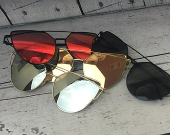 Aviator Mirrored Retro Sunglasses