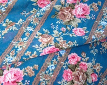 Vintage Chiffon Fabric,Rose Floral Fabric by the Yard for Summer Dressmaking,Skirt Clothing DIY