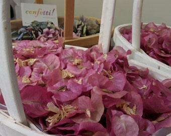 Real Petal Confetti, Bougainvillea, Biodegradable Confetti, Wedding Confetti, White, Red, Pink, Purple, Confetti, Natural Confetti