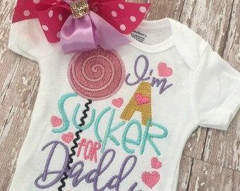 Fathers day shirt, Baby clothes, Baby girl clothes, Baby girl, Embroidery, Boutique