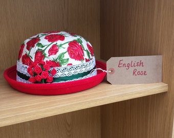 English Rose bowler hat
