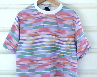 Rad 80's Pastel Patterned T-Shirt