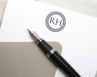 Mens Stationery, Personalized Stationery, Custom Monogram Stationery, Monogram Note Cards, Monogram Stationery, Fathers Day