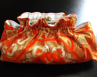 Evening Clutch bag of Obi (Kimono) Japanese Pouch bag 0000052