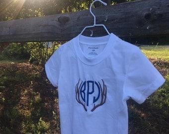 Monogrammed Antler Shirt