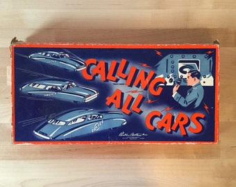 Vintage 1940s Calling All Cars, Parker Brothers Rare Board Game