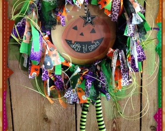 Countdown Calendar Halloween Wreath Home Decor