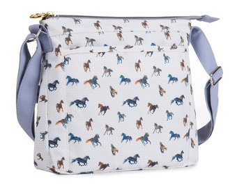TaylorHe Shoulder Bag Handbag Cross Body Bag Majestic Horses.