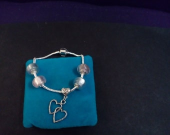 925 Sterling Silver charm funky bracelet