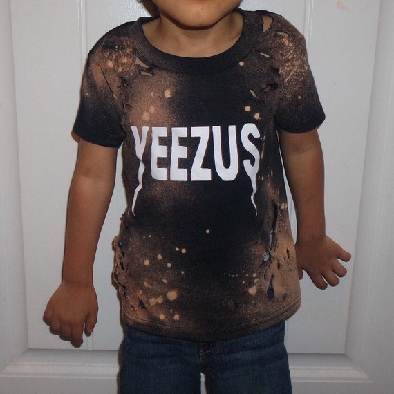Distressed bleached yeezus shirt unisex grunge by the2dopekids for Custom t shirts distressed