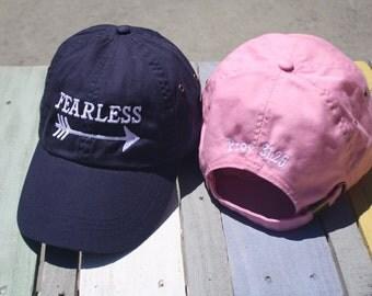 Fearless Baseball Cap - Proverbs 31 25 - Teacher Gift - Cancer Survivor Gift- Fight like a Girl- Graduation Gift -Inspirational Gift