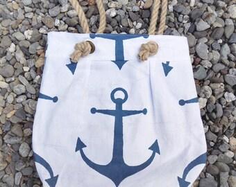 Anchors Away Handbag in Navy & White - Nautical Handbag Anchor Tote Nautical Bag Anchor Bags Nautical Purse Anchor Accessories Anchor Purse