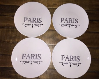 Paris Dessert Plates Set of Four
