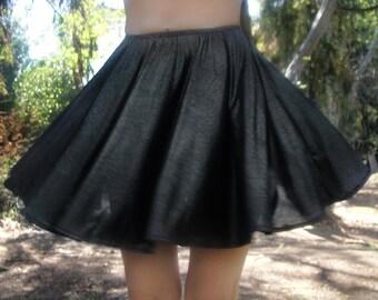 Circle mini skirt - Gothic Lolita - sparkling dark-silver, size S, new