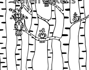 Romeo and Friends, 1 Adult Coloring Book Page, Printable Instant Download