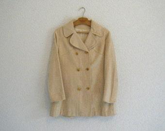 vintage. 1970s moleskin trench coat