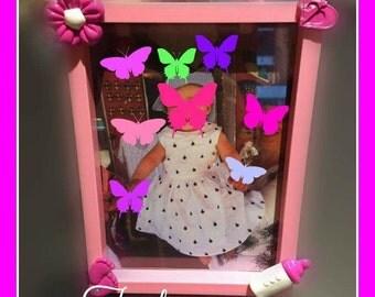 Frames for both little girl pee baby