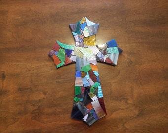 Stain Glass Mosaic Cross