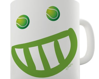 Tennis Grin Ceramic Tea Mug