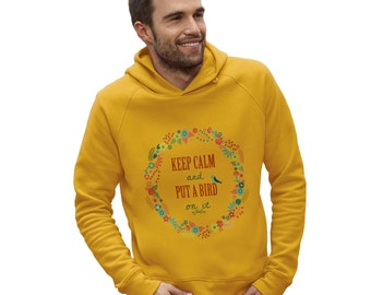 Men's Keep Calm And Put A Bird On It Hoodie