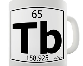 Periodic Table Of Elements Tb Terbium Ceramic Mug