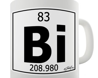Periodic Table Of Elements Bi Bismuth Ceramic Novelty Mug