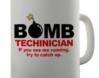 Bomb Technician Ceramic Novelty Mug