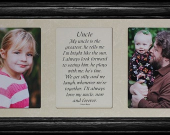 7x15 UNCLE Poetry & Photo 2-Opening ~ Gift for a Favorite Uncle from a NIECE or NEPHEW!