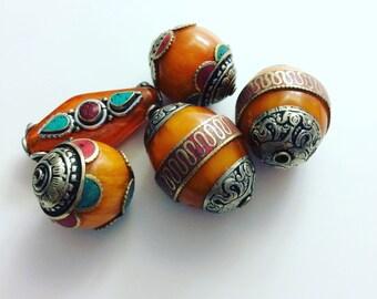Nepalese Amber Resin Beads