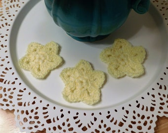 Crochet Star Appliques - Set of 3