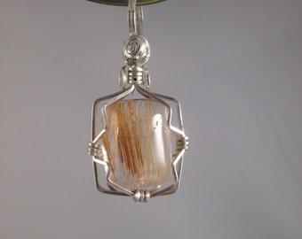 Sterling silver Rutilated Quartz Pendant