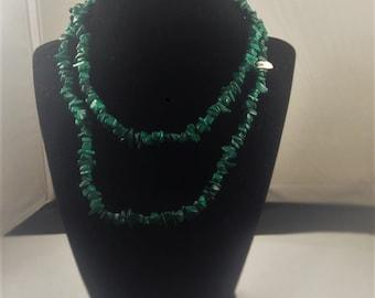 Green Malachite Necklace 3.27 oz
