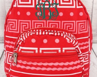 Monogrammed Backpack. Greek Key. Great for Back to School!