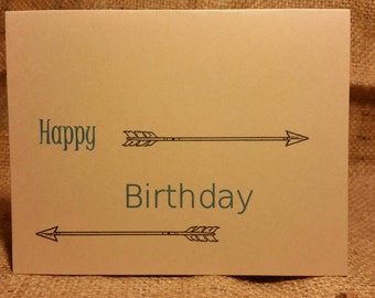 Arrow Birthday Card