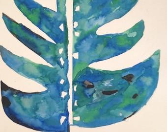 water color leaf
