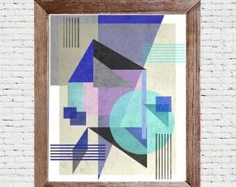 Abstract Art - Textured Shapes. Wall Print