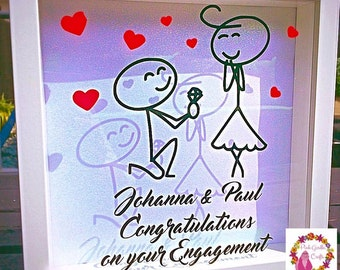 Engagement Gift / Engaged Frame / Congratulations Frame