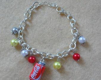 Coca cola fimo bracelet