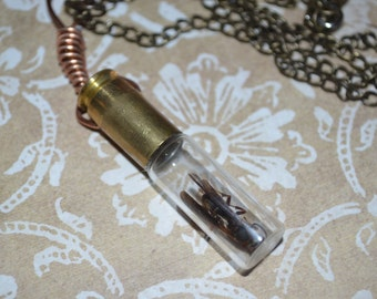 Wasp bullet necklace