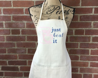 Just Beat It Canvas Apron