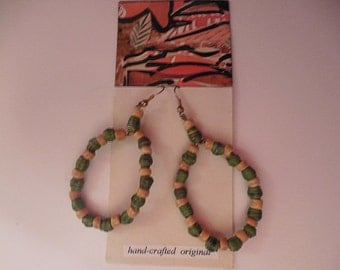 Green Hoop Earring